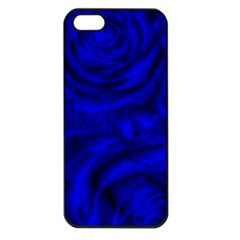 Gorgeous Roses,deep Blue Apple Iphone 5 Seamless Case (black)