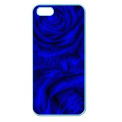 Gorgeous Roses,deep Blue Apple Seamless Iphone 5 Case (color)