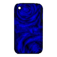 Gorgeous Roses,deep Blue Apple Iphone 3g/3gs Hardshell Case (pc+silicone)