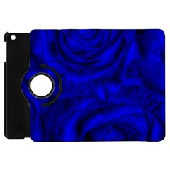 Gorgeous Roses,deep Blue Apple Ipad Mini Flip 360 Case