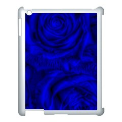 Gorgeous Roses,deep Blue Apple Ipad 3/4 Case (white)