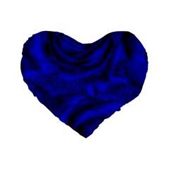 Gorgeous Roses,deep Blue Standard 16  Premium Heart Shape Cushions