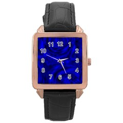 Gorgeous Roses,deep Blue Rose Gold Watches