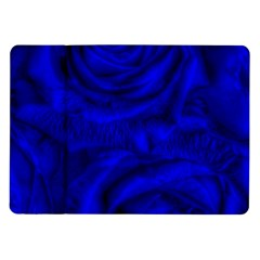 Gorgeous Roses,deep Blue Samsung Galaxy Tab 10 1  P7500 Flip Case
