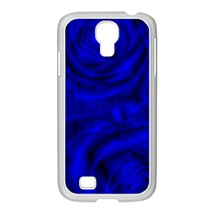 Gorgeous Roses,deep Blue Samsung Galaxy S4 I9500/ I9505 Case (white)