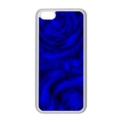 Gorgeous Roses,deep Blue Apple Iphone 5c Seamless Case (white)