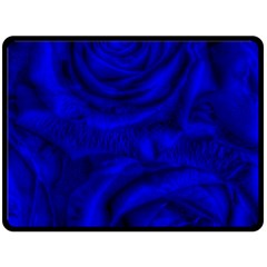 Gorgeous Roses,deep Blue Double Sided Fleece Blanket (large)