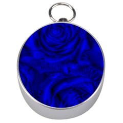 Gorgeous Roses,deep Blue Silver Compasses