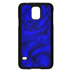 Gorgeous Roses,deep Blue Samsung Galaxy S5 Case (black)