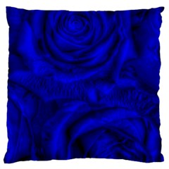Gorgeous Roses,deep Blue Large Flano Cushion Cases (two Sides)