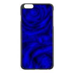 Gorgeous Roses,deep Blue Apple Iphone 6 Plus Black Enamel Case