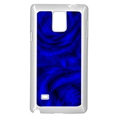 Gorgeous Roses,deep Blue Samsung Galaxy Note 4 Case (white)