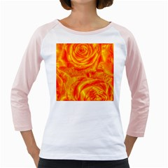 Gorgeous Roses, Orange Girly Raglans