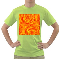 Gorgeous Roses, Orange Green T Shirt