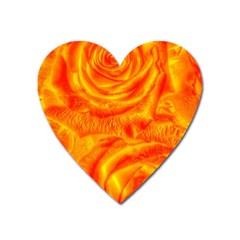 Gorgeous Roses, Orange Heart Magnet