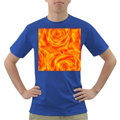 Gorgeous Roses, Orange Dark T Shirt
