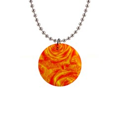 Gorgeous Roses, Orange Button Necklaces by MoreColorsinLife