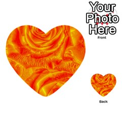 Gorgeous Roses, Orange Multi Purpose Cards (heart)  by MoreColorsinLife