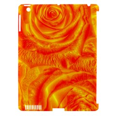 Gorgeous Roses, Orange Apple Ipad 3/4 Hardshell Case (compatible With Smart Cover)