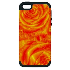 Gorgeous Roses, Orange Apple Iphone 5 Hardshell Case (pc+silicone)