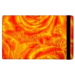 Gorgeous Roses, Orange Apple Ipad 3/4 Flip Case by MoreColorsinLife