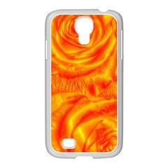 Gorgeous Roses, Orange Samsung Galaxy S4 I9500/ I9505 Case (white)