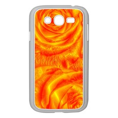 Gorgeous Roses, Orange Samsung Galaxy Grand Duos I9082 Case (white)
