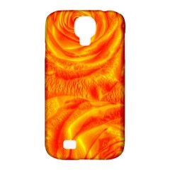 Gorgeous Roses, Orange Samsung Galaxy S4 Classic Hardshell Case (pc+silicone)