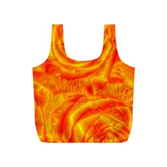 Gorgeous Roses, Orange Full Print Recycle Bags (s)  by MoreColorsinLife