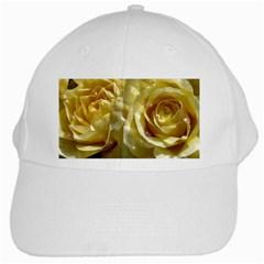 Yellow Roses White Cap