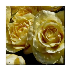 Yellow Roses Tile Coasters