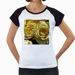 Yellow Roses Women s Cap Sleeve T
