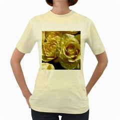 Yellow Roses Women s Yellow T Shirt