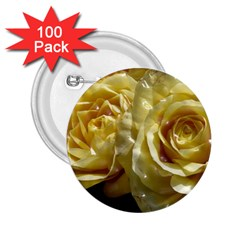 Yellow Roses 2 25  Buttons (100 Pack)