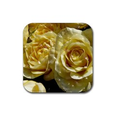 Yellow Roses Rubber Coaster (square)