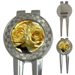 Yellow Roses 3 In 1 Golf Divots