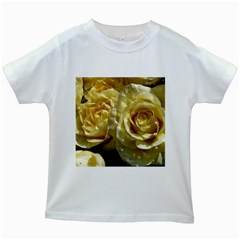 Yellow Roses Kids White T Shirts