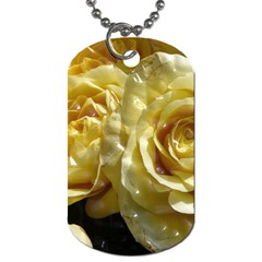 Yellow Roses Dog Tag (two Sides) by MoreColorsinLife