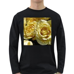 Yellow Roses Long Sleeve Dark T Shirts