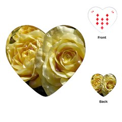 Yellow Roses Playing Cards (heart)  by MoreColorsinLife