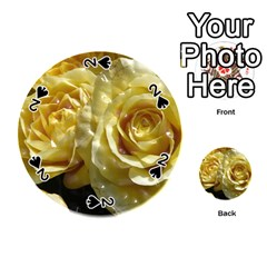 Yellow Roses Playing Cards 54 (round)