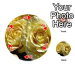 Yellow Roses Playing Cards 54 (Round)  Front - Heart5