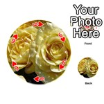 Yellow Roses Playing Cards 54 (Round)  Front - Heart6