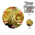 Yellow Roses Playing Cards 54 (Round)  Front - Heart7