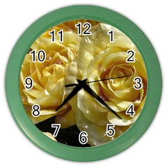 Yellow Roses Color Wall Clocks
