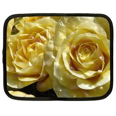 Yellow Roses Netbook Case (large)	 by MoreColorsinLife