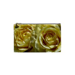 Yellow Roses Cosmetic Bag (small)  by MoreColorsinLife