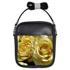 Yellow Roses Girls Sling Bags