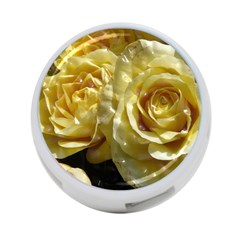 Yellow Roses 4 Port Usb Hub (two Sides)