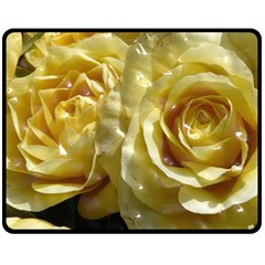 Yellow Roses Fleece Blanket (medium)